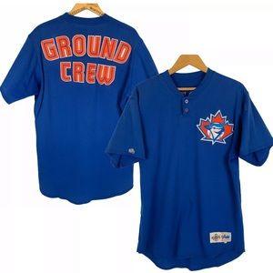 Rare Vtg Toronto Blue Jays Ground Crew Uniform Lrg